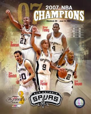 Spurs 2007 Champions Composite 8X10 Photo LIMITED STOCK