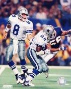 Troy Aikman & Emmitt Smith Cowboys SATIN 8X10 Photo