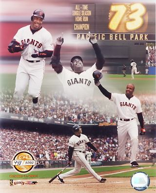 Barry Bonds 73 Home Runs Limited Edition Numbered 8X10 Photo RARE