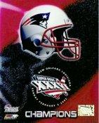 Patriots 2002 Team Champs Helmet 8X10 Photo LIMITED STOCK