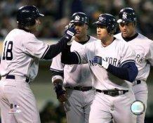 Alex Rodriguez Celebrates Grand Slam Opening Day 2006 8X10 Photo