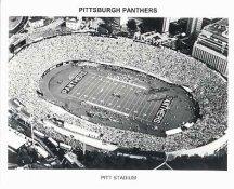 N2 Pitt Stadium Pitt Panthers Black and White College Football  8x10 Photo