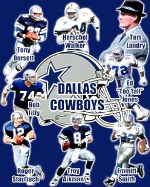 Troy Aikman, Emmitt Smith, Tom Landry, Bob Lilly, Roger Staubach, Tony Dorsett Collage Cowboys 8X10 Photo