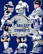 Troy Aikman, Emmitt Smith, Tom Landry, Bob Lilly, Roger Staubach, Tony Dorsett Collage Cowboys 8X10 Photo