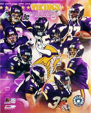 Vikings 2003 Minnesota Team 8x10 Photo