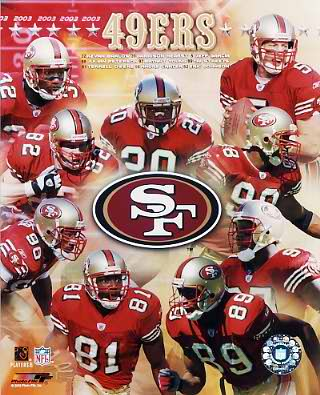 49ers 2003 San Francisco Team 8x10 Photo