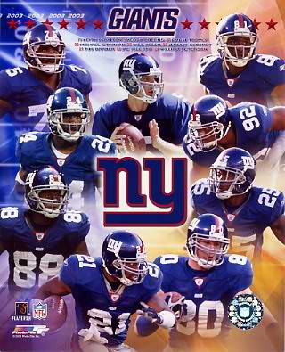 Giants 2003 New York Team 8X10 Photo