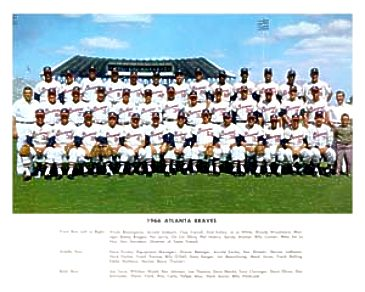 Atlanta 1966 Braves Team 8X10 Photo