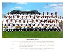 Atlanta 1966 Braves Team 8X10 Photo