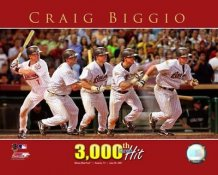 Craig Biggio 3000th Multi-Exposure Astros 8X10 Photo  LIMITED STOCK