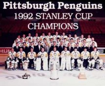 Penguins 1992 Stanley Cup Champs Team 8x10 Photo
