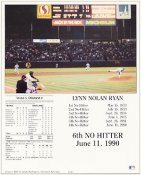 Nolan Ryan Texas Rangers 6th No Hitter 8X10 Photo