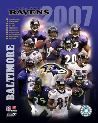 Ravens 2007 Baltimore Team 8x10 Photo