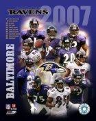 Ravens 2007 Baltimore Team 8x10 Photo