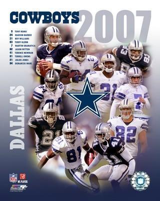 Cowboys 2007 Dallas Team 8X10 Photo