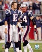 Tedy Bruschi & Tom Brady New England Patriots 8X10 Photo