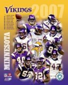 Vikings 2007 Minnesota Team Composite 8X10 Photo