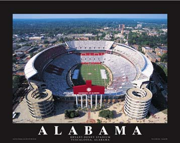 A1 Bryant Denny Stadium Alabama Aerial 8x10 Photo