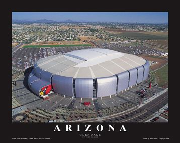 A1 Arizona University Phoenix Stadium Aerial 8x10 Photo
