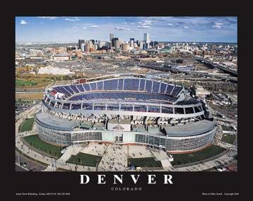 A1 Invesco Field Aerial Denver Broncos 8x10 Photo