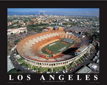 A1 Los Angeles Coliseum Aerial 8x10 Photo