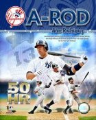 Alex Rodriguez 50 HR 2007 Yankees 8X10 Photo