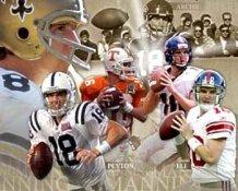 Peyton Manning, Eli Manning, Archie Manning Composite 8X10 Photo