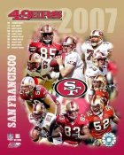 SanFrancisco 2007 49ers Team Composite 8X10 Photo