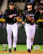Matt Holliday &  Troy Tulowitzki LIMITED STOCK Game 4 NLCS 8X10 Photo