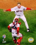 Jonathan Papelbon & Jason Varitek 2007 WS Game 4 LIMITED STOCK Red Sox 8x10 Photo
