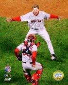 Jonathan Papelbon & Jason Varitek 2007 WS Game 4 LIMITED STOCK Red Sox 8x10 Photo