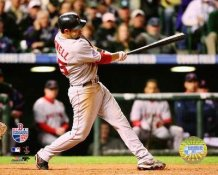Mike Lowell 2007 WS LIMITED STOCK Home Run Game 4 Red Sox 8x10 Photo