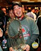 Daisuke Matsuzaka 2007 WS Trophy LIMITED STOCK Red Sox 8x10 Photo