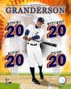Curtis Granderson 20's Detroit Tigers 8x10 Photo