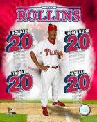 Jimmy Rollins LIMITED STOCK 20's Philadelphia Phillies 8X10 Photo