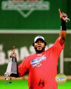 David Ortiz LIMITED STOCK with Trophy 2007 ALDS Boston Red Sox 8x10 Photo