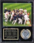 Boston 2007 Champs Plaque Celebration Black Marble 12x15 World Series Team