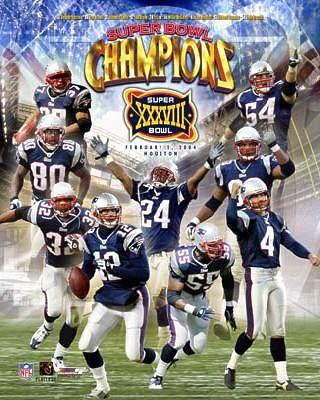 Patriots 2004 Super Bowl 38 Team Comp LIMITED STOCK 8x10 Photo