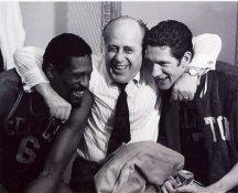John Havlicek, Bill Russell & Red Auerbach Boston Celtics 8X10 Photo LIMITED STOCK