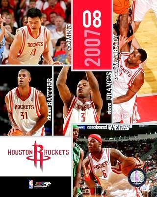 Houston 2007 Rockets Team 8X10 Photo LIMITED STOCK