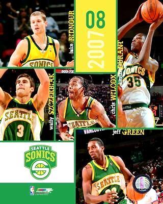 Seattle 2007 Sonics Team Composite 8X10 Photo