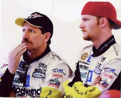 Dale Earnhardt Jr. & Sr Nascar 8x10 Photo