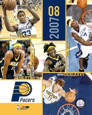 Pacers 2007 Team Composite 8x10 Photo LIMITED STOCK