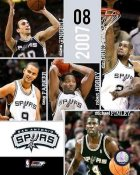 Spurs 2007 Team Composite 8X10 Photo LIMITED STOCK