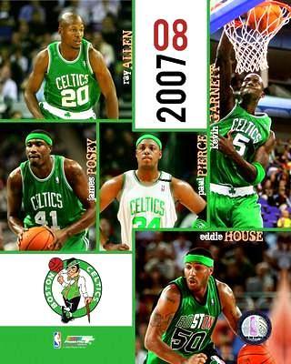 Celtics 2007 Boston Team Composite 8X10 Photo LIMITED STOCK
