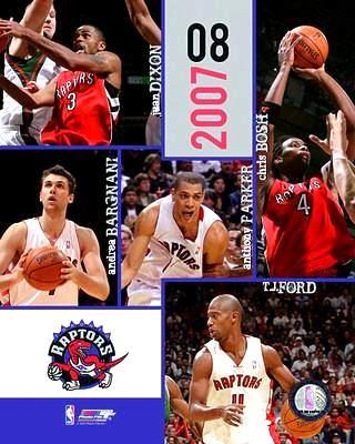 Raptors 2007 Toronto Team Composite 8X10 Photo LIMITED STOCK