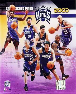 Kings 2003 Sacramento Team 8X10 Photo