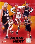 Heat 2001 Miami Team Composite 8X10Photo LIMITED STOCK