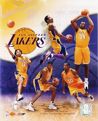 Lakers 2001 Los Angeles Team Composite 8X10 Photo LIMITED STOCK