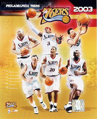 76ers 2003 Philadelphia Team Composite 8X10 Photo LIMITED STOCK